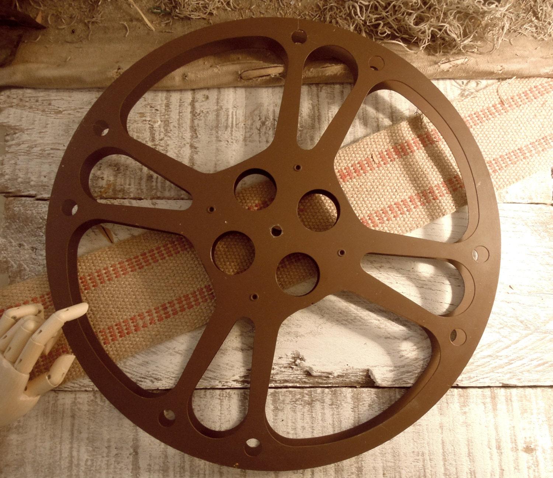 Vintage Film Reel Metal Wheel Brown Film Reel Urban