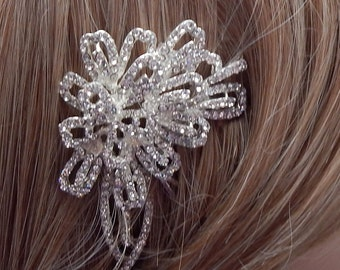 Rhinestone hair comb Wedding hair comb bridal hair comb rhinestone flower hair comb decorative hair comb wedding hair piece bridal hairpiece