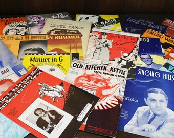 Vintage Sheet Music from the 1930s - Lot of 20 - Vintage Sheet Music Collection