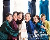 Bridesmaid robes, silk wedding robes, bridesmaid silk robe, dressing gown, personalized silk robe, kimono robes, floral robe, bridal robe
