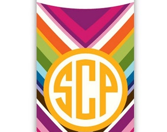 MULTI CHEVRON Personalized Aluminum Water Bottle - customizable pattern with name or monogram - back-to-school, sports, camp, park, parties