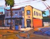 Pub in Ocean Beach, San Diego Landscape Painting