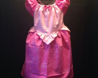 Disney Inspired Princess Aurora Boutique Peasant Dress
