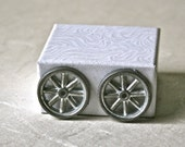 Small Metal Spoked Wheels for Craft Projects and Toy Making