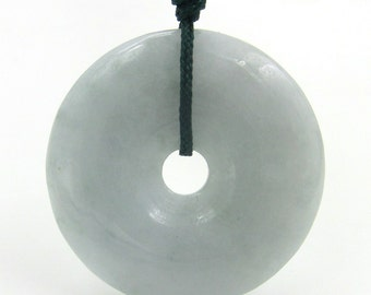 Natural Jadeite Carved Circle Donut Pendant Jewelry For Handwork 26mm*26mm  Cy155
