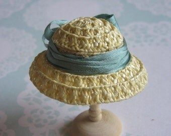 Handmade 1/12 miniature dollhouse straw hat