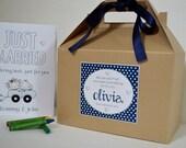 Personalized Kids wedding activity box / Kids wedding activity pack/ kids activity book with crayons