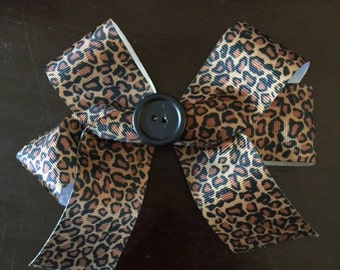 Brown and Black Leopard Bow