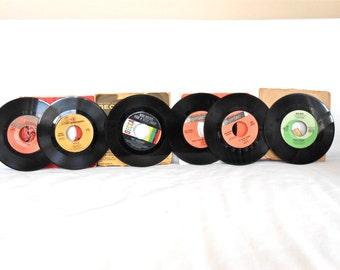 Vintage 45s Lot of 6 Dean Martin Frank Sinatra Bert Kaempfert Reprise Records Decca Capitol 1960s 60s Italian Singers