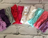 SALE Boutique Baby Top Knot pick your color Headband Top knot Headband Pick your golor Turban Headband Twisted Knot headband