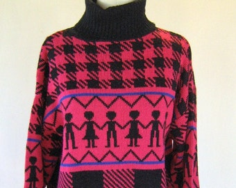 Come Together Knit Novelty Sweater Top