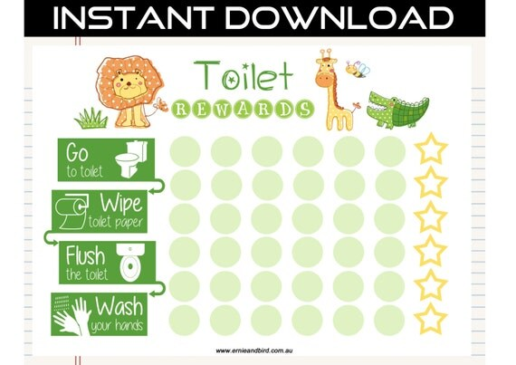 printable toilet potty training chart digital download