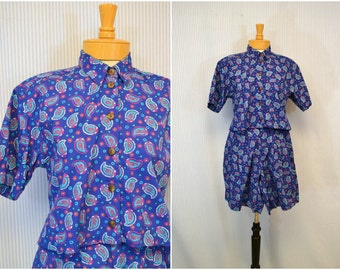 1980s Liz Claiborne Shorts Set
