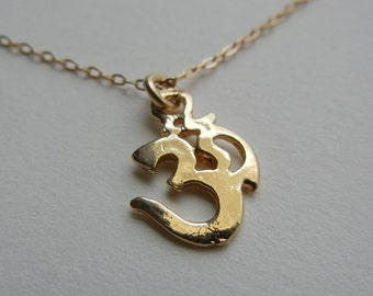 Om Necklace (Gold)