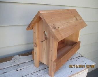 Quail bird feeder