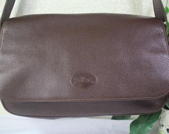 Vintage Longchamp Brown Leather Classic  Shoulder Bag