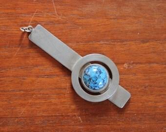 Modernist pewter pendant / by Jorgen Jensen Denmark