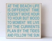 At The Beach, Wood Sign, Beach Decor, Beach Life, Beach Sign, Sea Home Decor, Beach Home Decor, Beach House Decor, Beach Wood Sign,