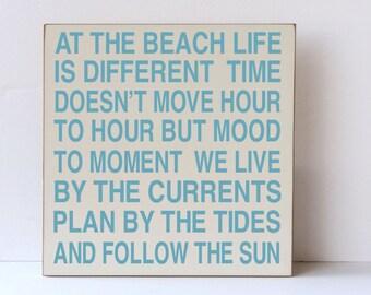 Beach Wall Art, At The Beach, Beach Decor, Beach Life, Beach Sign, Sea Home Decor, Beach Home Decor, Beach House Decor, Beach Wood Sign,