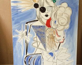 Lady Gaga born this way mashup painting