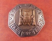 Vintage Peru Small Sterling and Gold Brooch