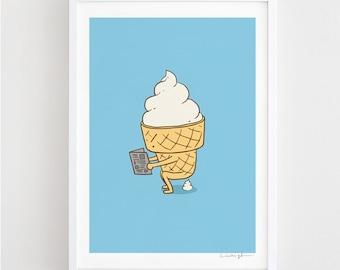 Everyone Poops (Blue) - Art print