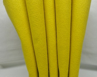Wool Felt - Wool Sheets - Mellow Yellow Wool - Merino Blend Wool Felt - Craft Felt - 12 X 18