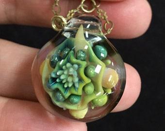 Glass Blown Pendant Necklace