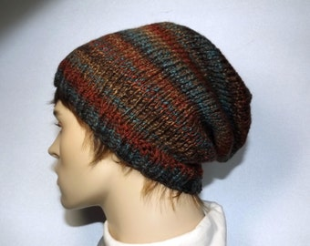Slouch Hat Womens Hat Hand Knit Slouch Beanie Knit Mens Womens Hat Slouchy Fashion Accessories