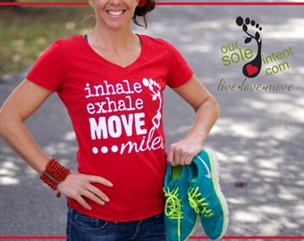 small RED MOVE MILES tee, #move1everyday