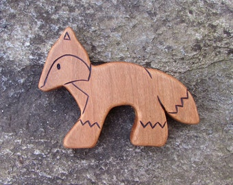 Fox, Cherry - all natural wooden toy animal