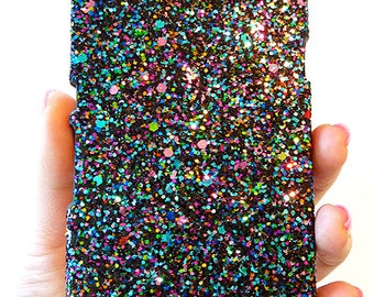 For Sony Ericsson Xperia Z L36H Multi-Color Specks Sequin Cluster Cell Phone Bling Hard Case Cover