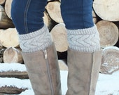Hand  Knit  Boot Cuffs, Boot Toppers, Leg Warmers 14 Colors Avelable