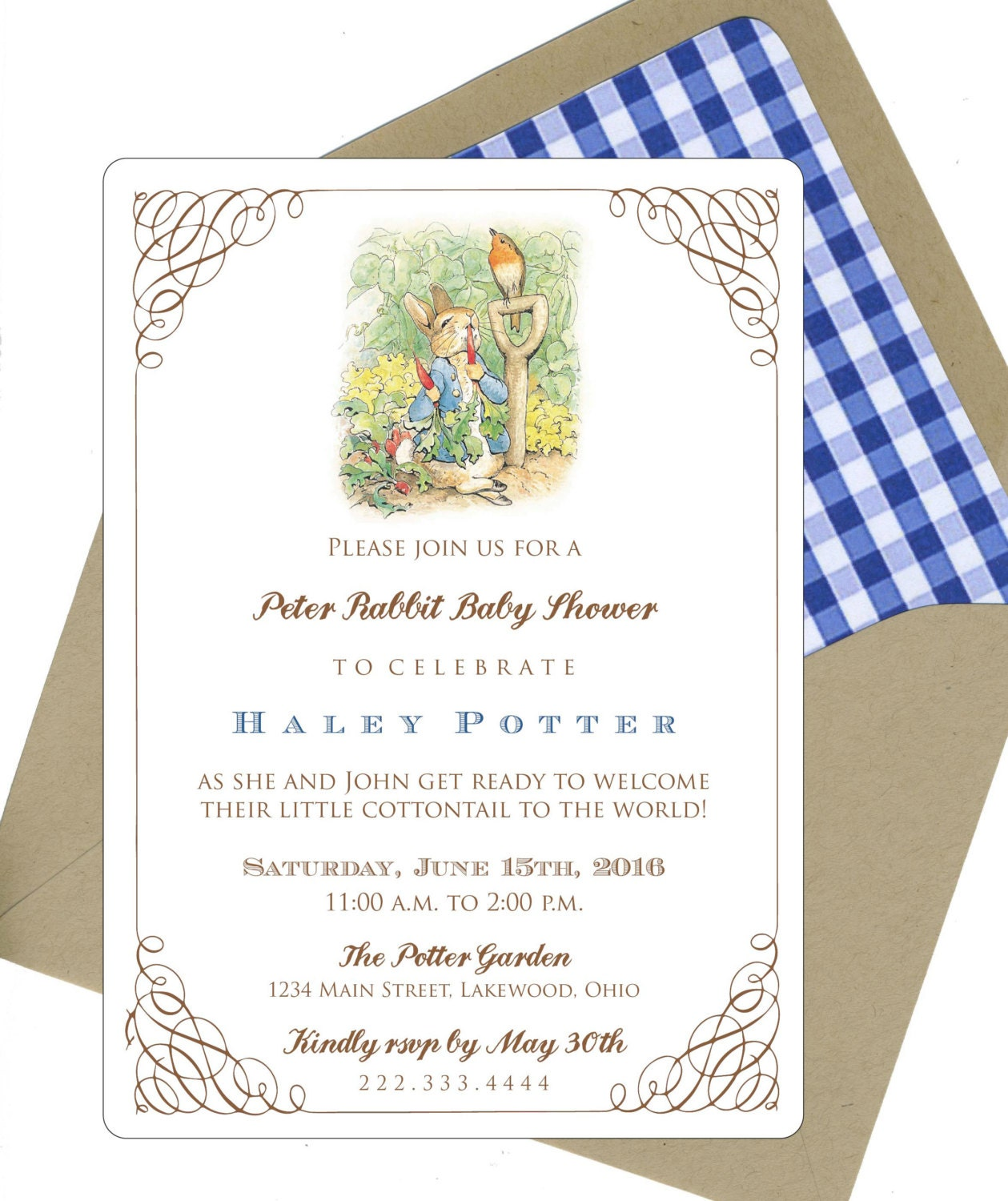 peter rabbit baby shower invitations by bbinvitations on etsy