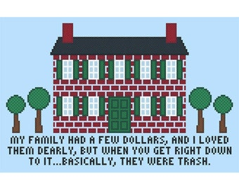 "Golden Girls Inspired ""I LOVED THEM DEARLY"" Subversive Sampler Cross Stitch Chart"