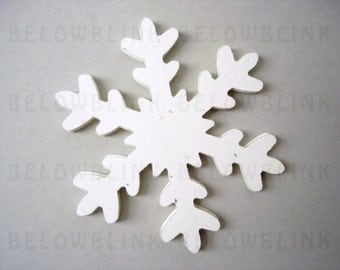 10 Frozen Fever Extra Large Stardust White Snowflakes Die Cut, Snowflake Tags, Party Supplies, Hanging Decorations - No664