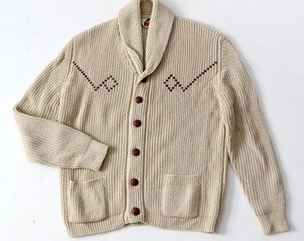 1970s Miller cardigan, men's western sweater