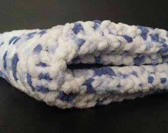 Knitted Baby Blanket - Little Denim