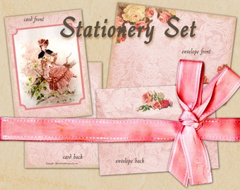 Stationary Set No 2 Card with envelope Gift card French style