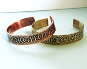 Valar Morghulis Valar Dohaeris His and Hers cuff - Game of Thrones inspired jewelry - Arya Stark
