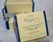 Sparkling Blue Water Natural Vegan Olive Oil Soap  - organic ingredients