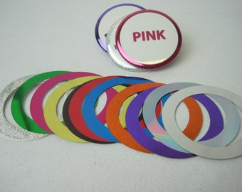 2 1/4'Standard Maylar Multicolors Rings for Buttons Making Machines 100 pcs.