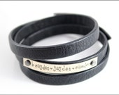 Personalized Leather Wrap Bracelet with Children's Names | Custom Wrap  Bracelet