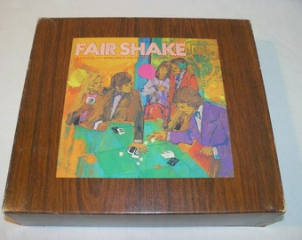 Fair Shake Dice Card Game of Luck - Vintage 1972 - Leisure Life - Complete