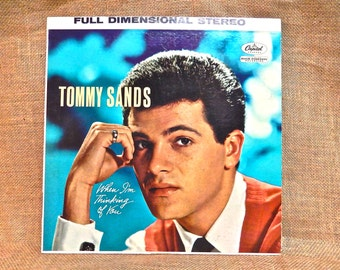 TOMMY SANDS - When I'm Thinking of You - 1960 Vintage Vinyl Record Album