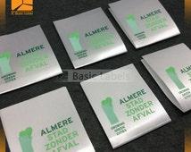 1000 printing satin labels,  printed satin labels, printed ribbon labels, sew on labels, care wash label , satin label, printed care label