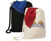 Extra Large 100% Canvas Drawstring Laundry Bag - Great for Dorms! - FREE Monogramming