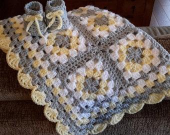 Crocheted Baby Blanket, Baby Girl, Baby Boy, Baby Afghan, Baby Blanket, Crib Size, Toddler