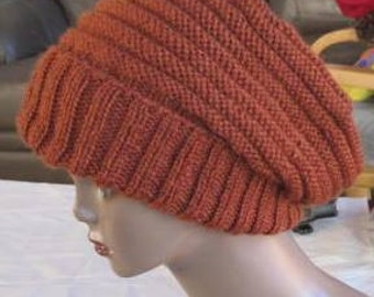 knit hat pattern-  adult, for men and women.