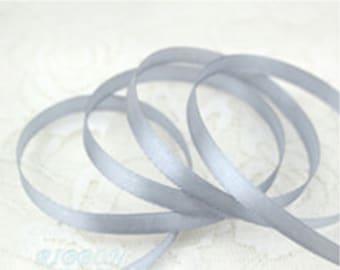 Light Grey Ribbon Terylen Lace Trim 0.23 Inch Wide 22 meters